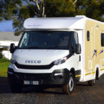 Discoverer 4 in Desert yellow - great colours, great campers